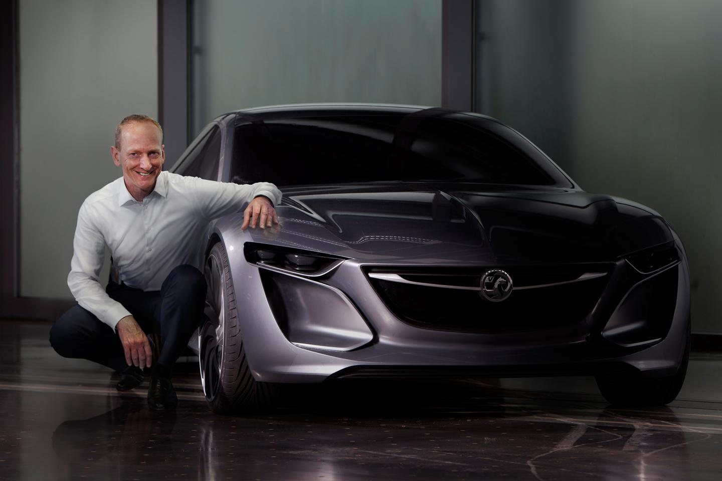 Vauxhall CEO Dr. Karl-Thomas Neumann, with the Monza Concept
