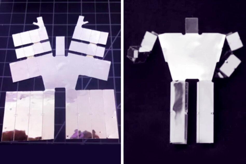New components and techniques could allow robots to self-assemble when heated (Photo: MIT)