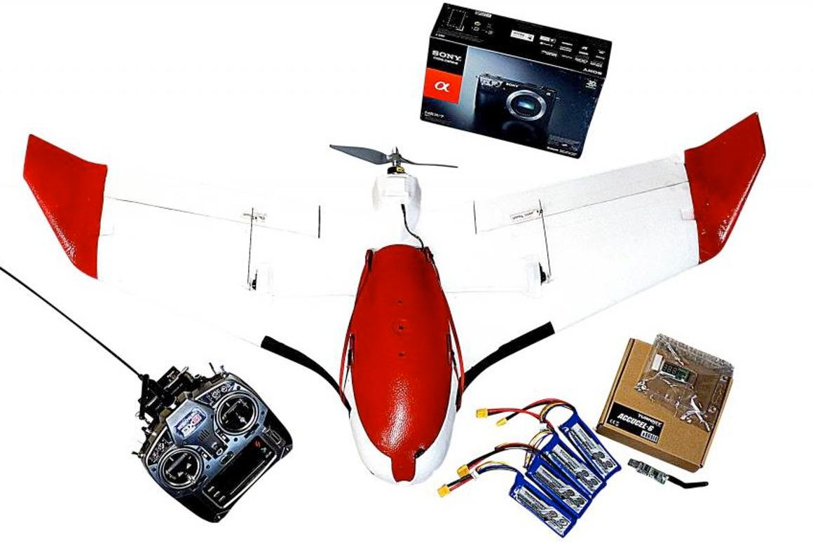 The complete Aeromapper X5 package