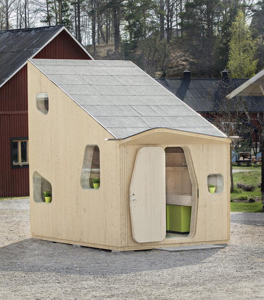 Swedish architectural firm Tengbom has come up with a creative new accommodation model that squeezes student living into a compact 107 sq. ft area
