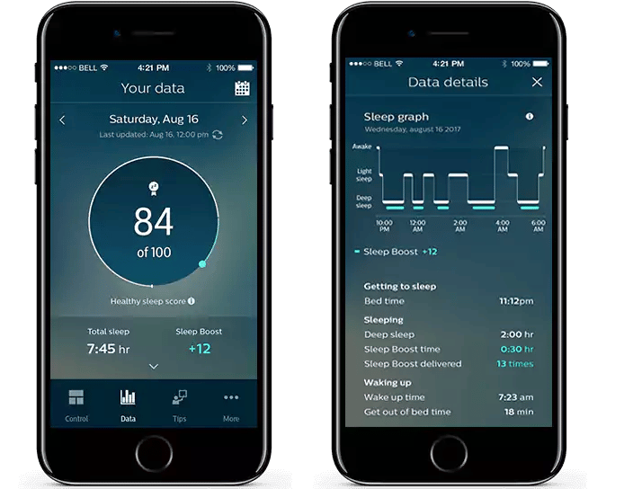 Philips' SmartSleep comes with a companion app to track sleep quality