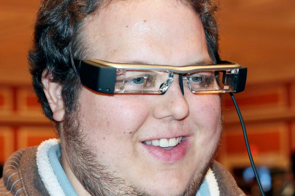 Epson's new Moverio BT-200 smart glasses at CES