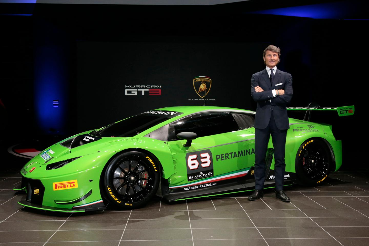 The Huracan GT3 was unveiled at Lamborghini's headquarters