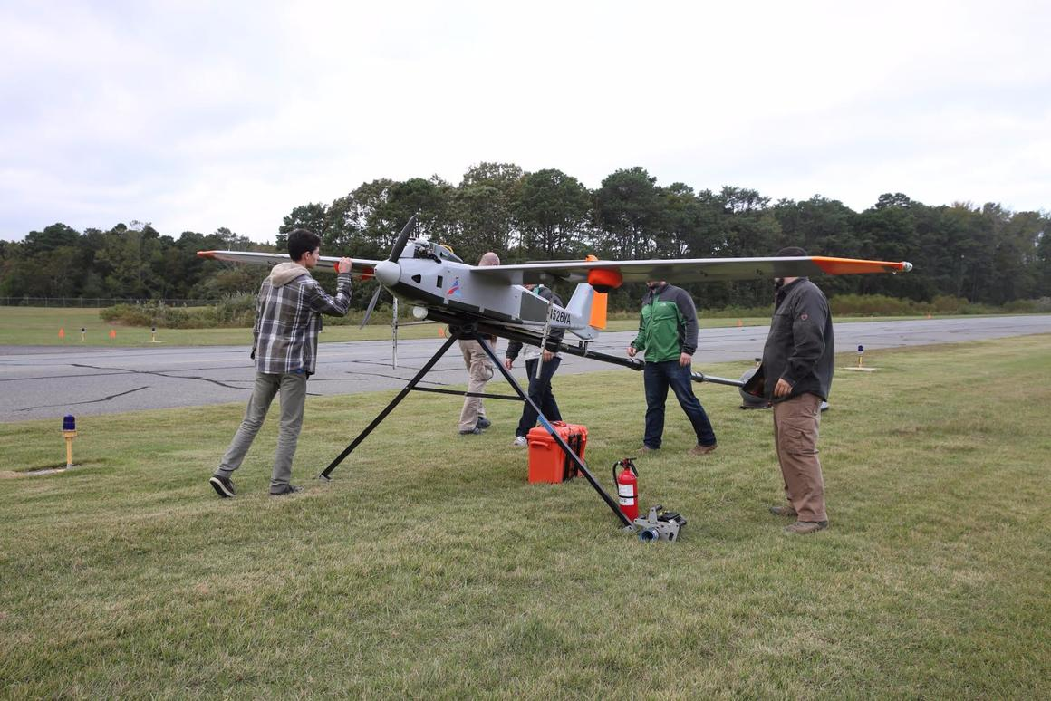 Verizon's recent trials involved an unmanned aircraft with a 17-foot (5.2 m) wingspan