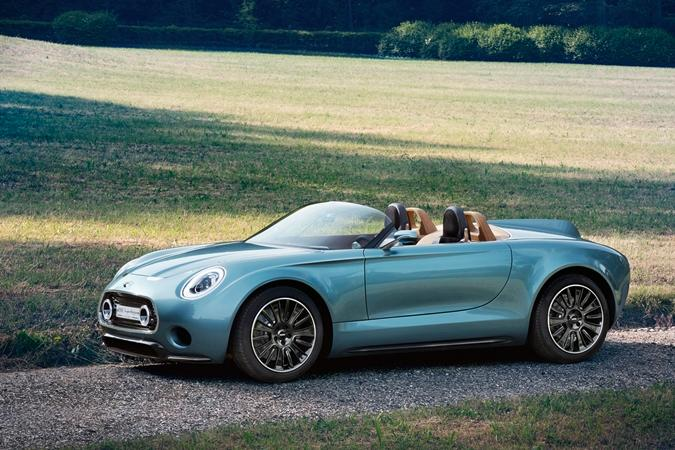 The Mini Superleggera Vision is a new electric concept roadster