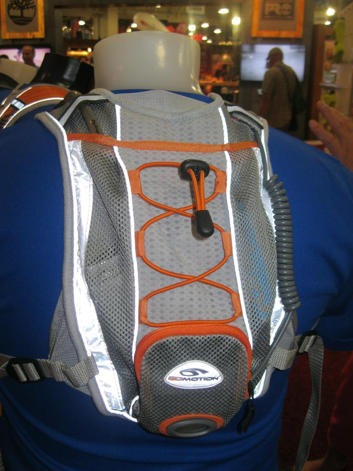 The Synergy Hydration Lightvest has storage for a 1-L bladder