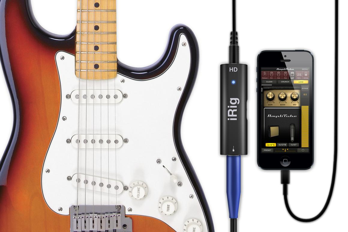 IK Multimedia has announced the successor to its iRig guitar interface for iPhone – the iRig HD