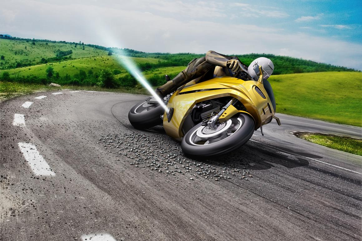 Bosch suggests adding lateral thrusters to keep the motorcycle upright in the case of a slip