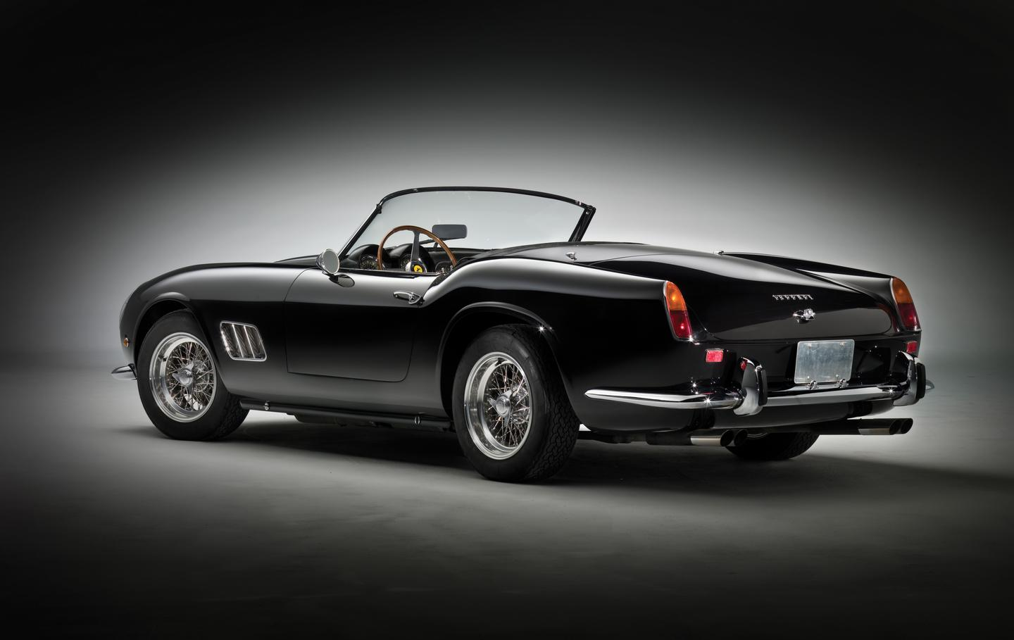 The first incarnation of the 250GT California Spider finished fifth outright in the 1959 24 Hours of ours of Le Mans. Hours of Le Mans. In 1961, Ferrari shortened the wheelbase to offer razor-sharp steering, replaced the drums with disc brakes, and the 276 hp three-litre SWB California was born. This car is one of the best known of the limited edition SWB Californias.