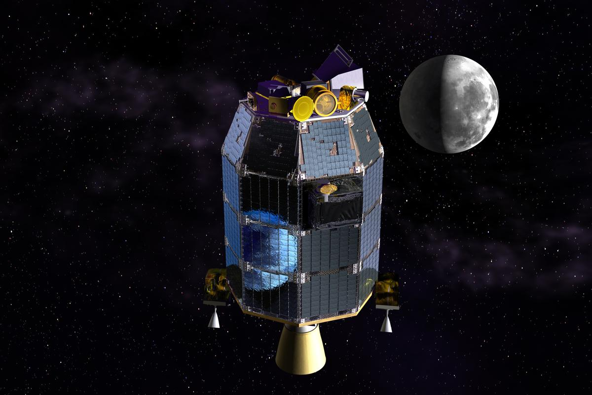 Artist's concept of the LADEE spacecraft (Image: NASA)