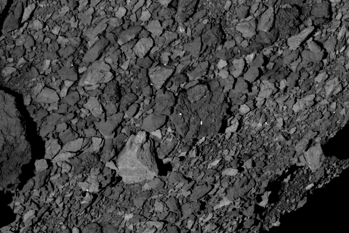 Boulders on the surface of Bennu