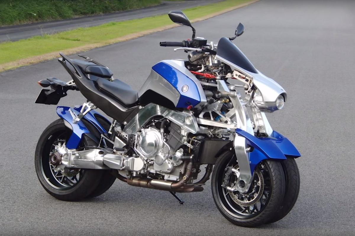 The OR2T research and development prototype is a display of Yamaha's leaning multi-wheeled suspension technology
