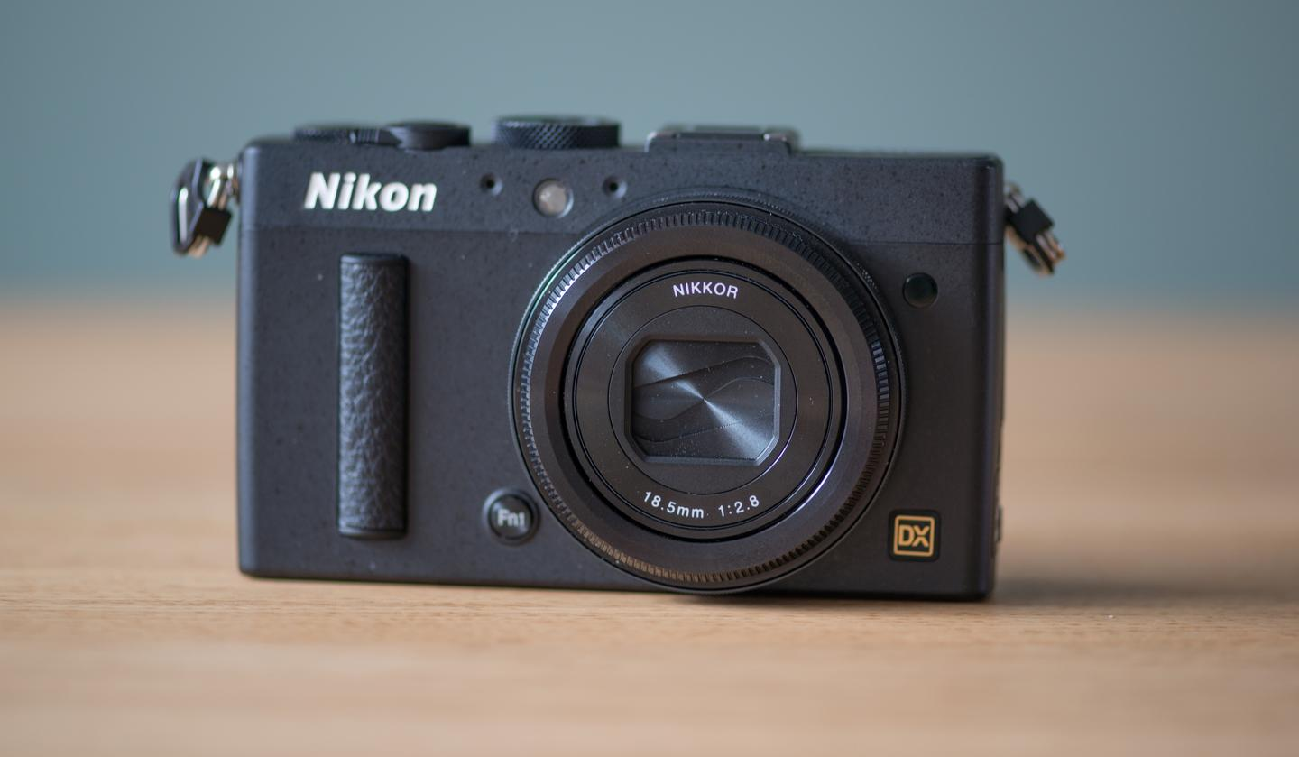 The Nikon Coolpix A contains a large APS-C sensor, the same size found in most DSLRs