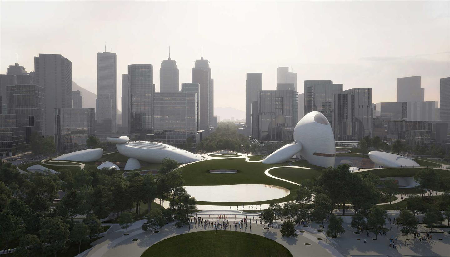 The Shenzhen Bay Culture Park is going ahead and is expected to be completed in 2023