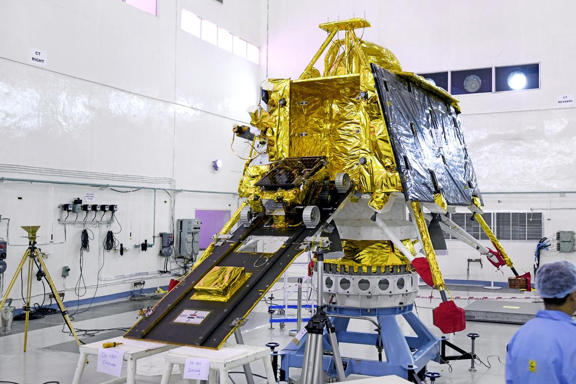 Chandrayaan-2 before launch with ramp deployed