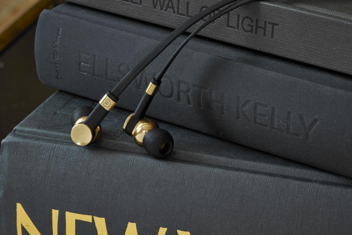 The ME05 earphones feature a precision-machined, solid brass body