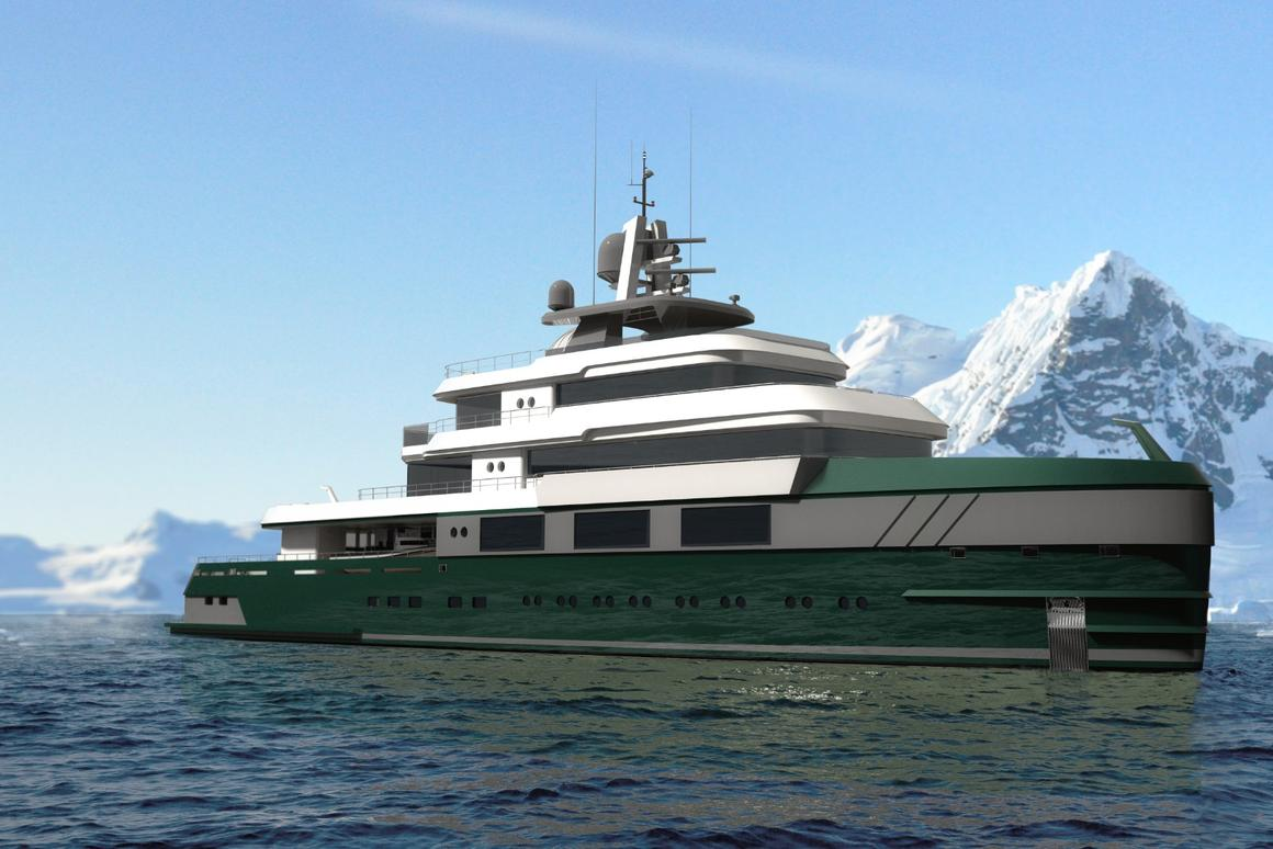 Beyond is astriking 60-meter (196-ft) explorer yacht conceptconceived witha first-of-its-kind built-in observatory