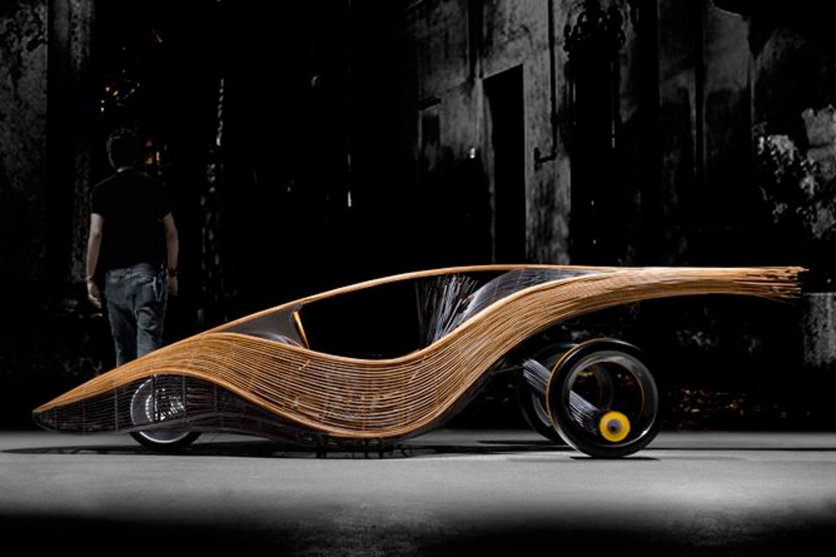 The Phoenix is a concept car, with a biodegradable body built from rattan and bamboo (Photos courtesy Kenneth Cobonpue)