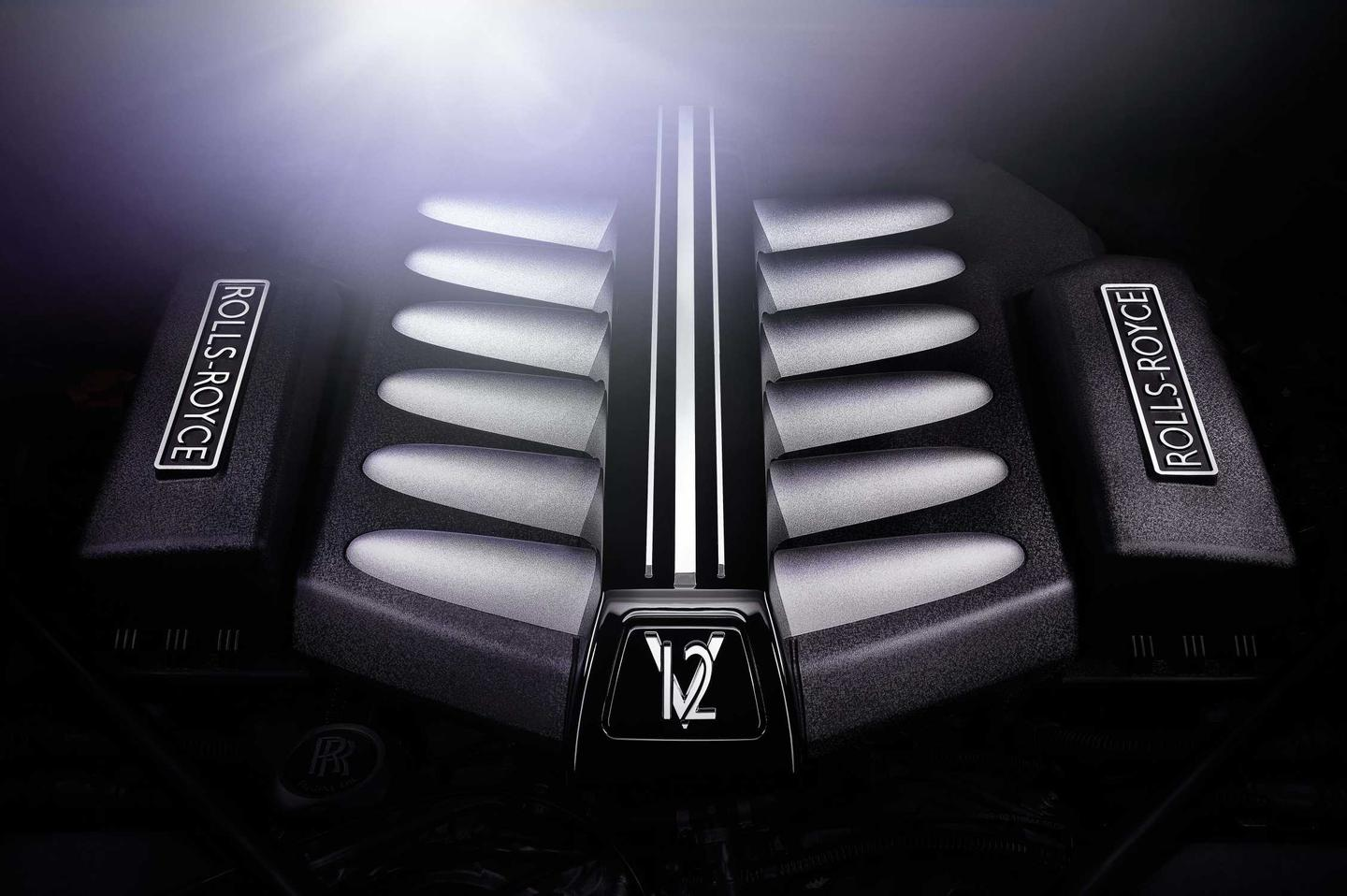 The Rolls-Royce Ghost V-Specification V-12 engine