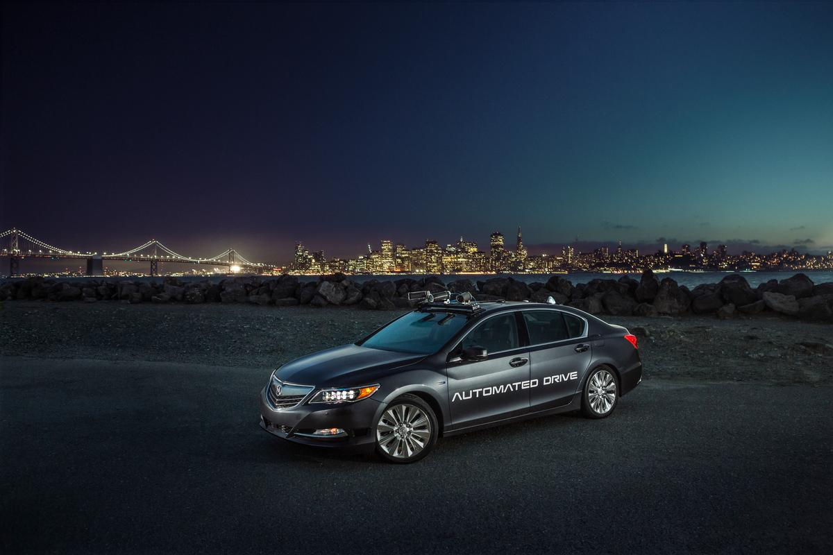 Acura's new second-gen RLX automated development car is based on the RLX Sport Hybrid SH-AWD
