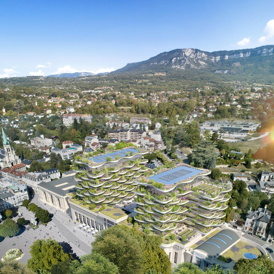 Vincent Callebaut Architectures recently won a competition to renovate the site of a historic thermal baths in Aix-les-Bains, France