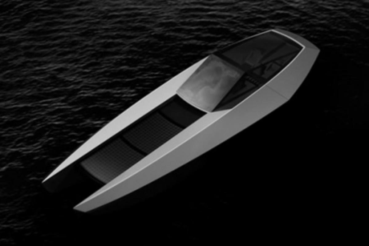 Code X's solar-hybrid luxury yacht