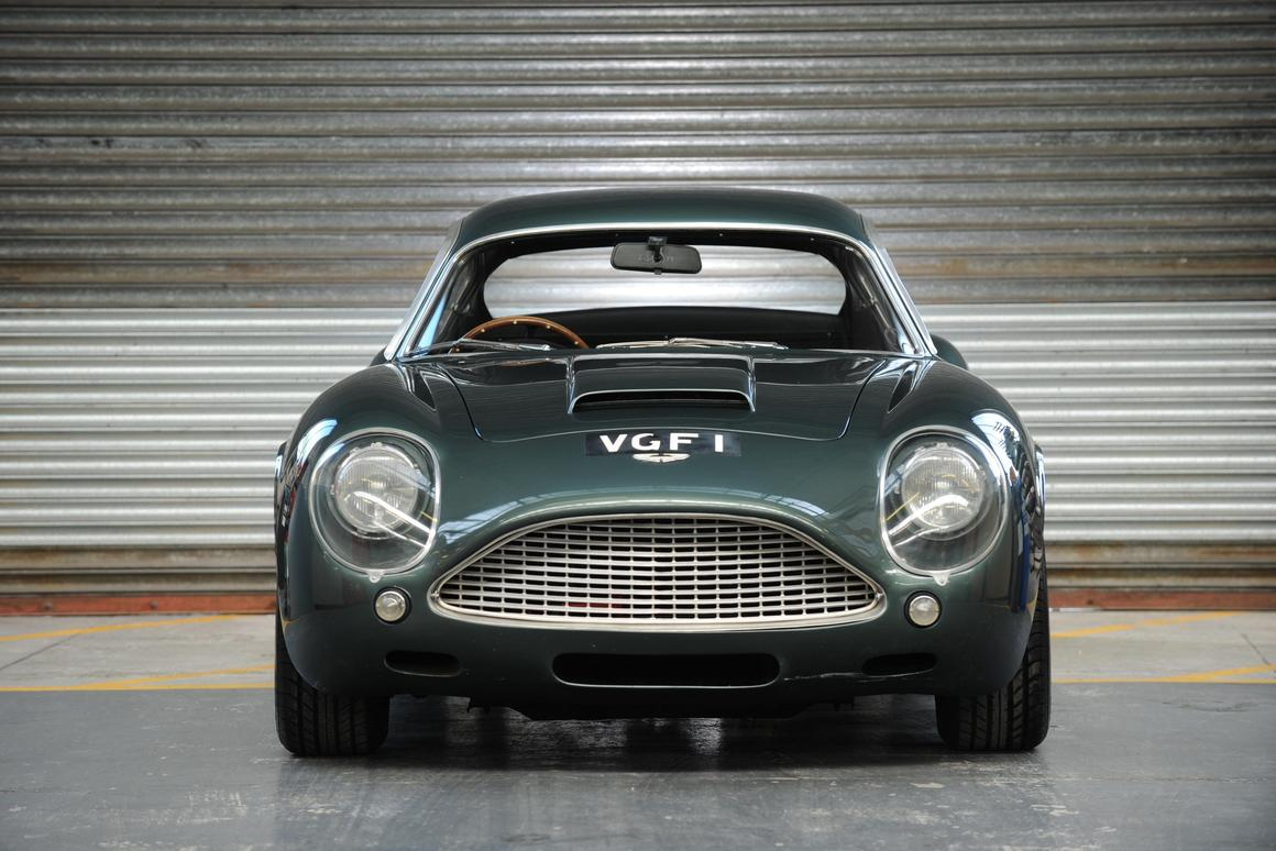This 1991 Aston Martin DB4GT Zagato Sanction II Coupé was sold at auction by Bonhams for a world record price (for an Aston Martin), of GBP1.23 million (US$1.93)