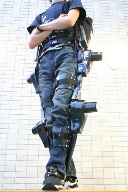 The Robot Suit HAL: Hybrid Assistive Limb) Image copyright Prof. Sankai Univ. of Tsukuba/ Cyberdyne Inc.