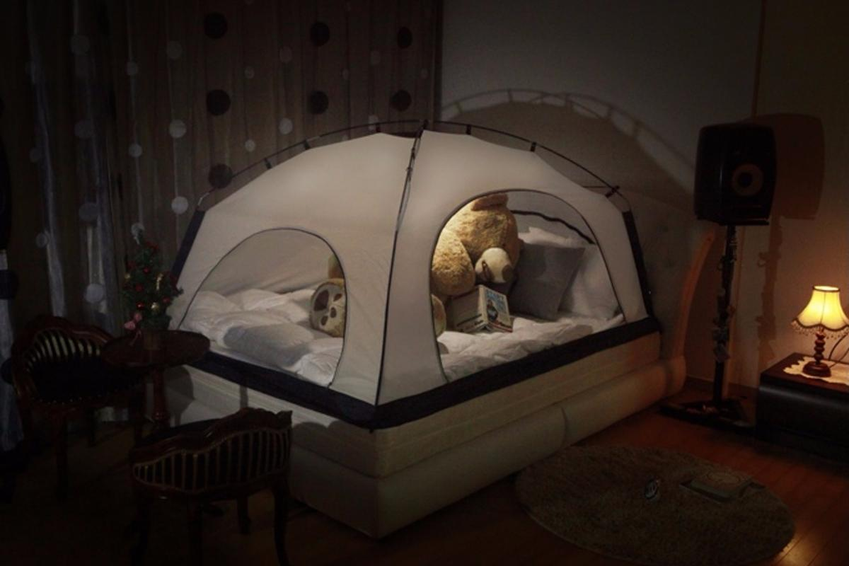 The Room in Room bed tent is designed to reduce heating bills in wintertime