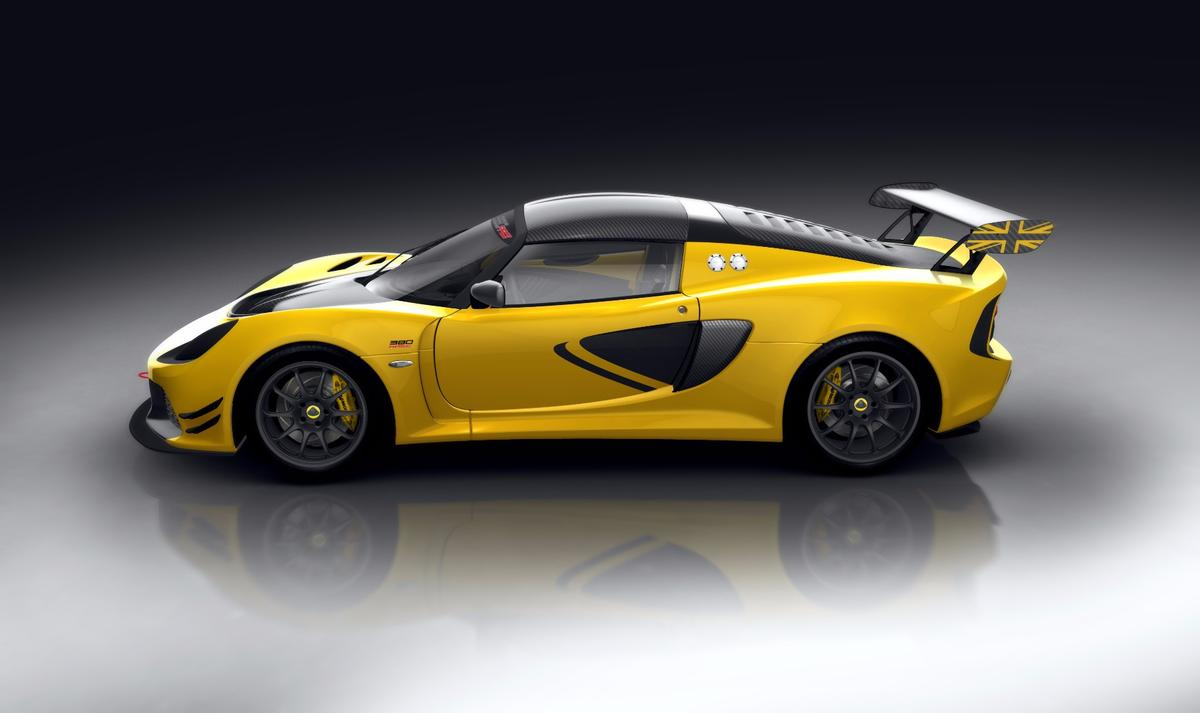 The Lotus Exige Race 380 uses the same 3.5-liter supercharged V6 found in the Exige line, but updates to a six-speed sequential transmission