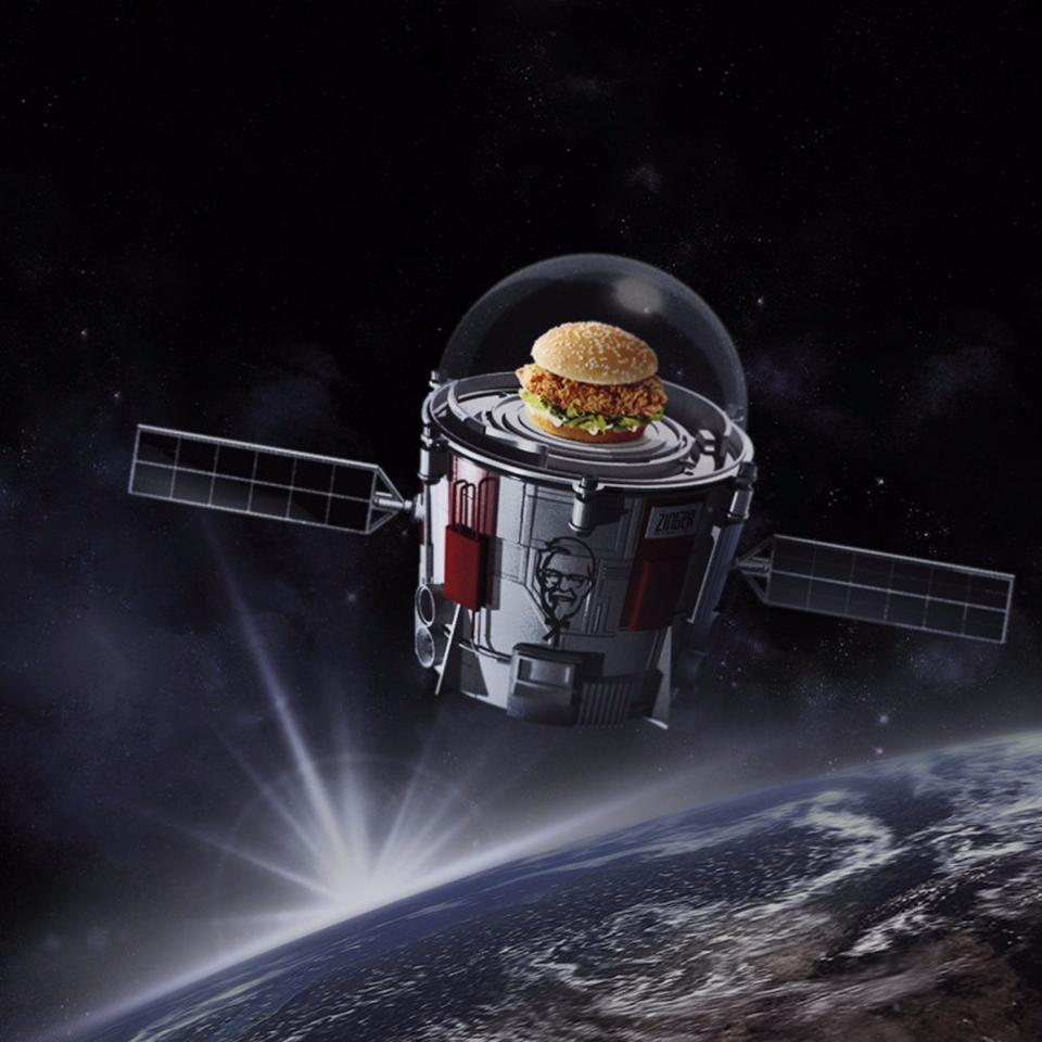 KFC has financed part of the vehicle development for World View's upcoming space balloon test run