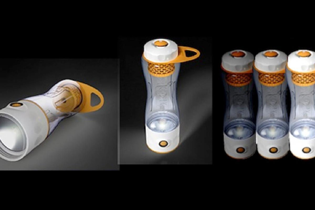 The ÖKO Odyssey six-in-one water bottle/light