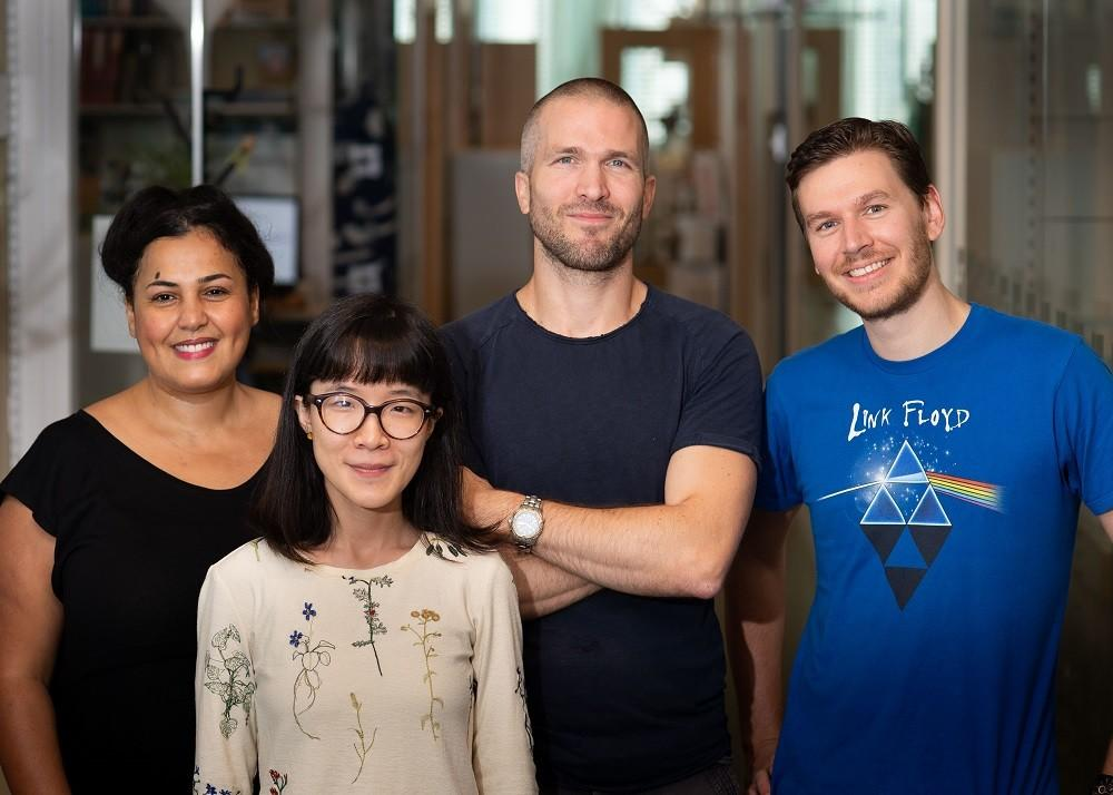 From left Saida Hadjab, Haohao Wu, François Lallemend and Charles Petitpré, researchers on the new study