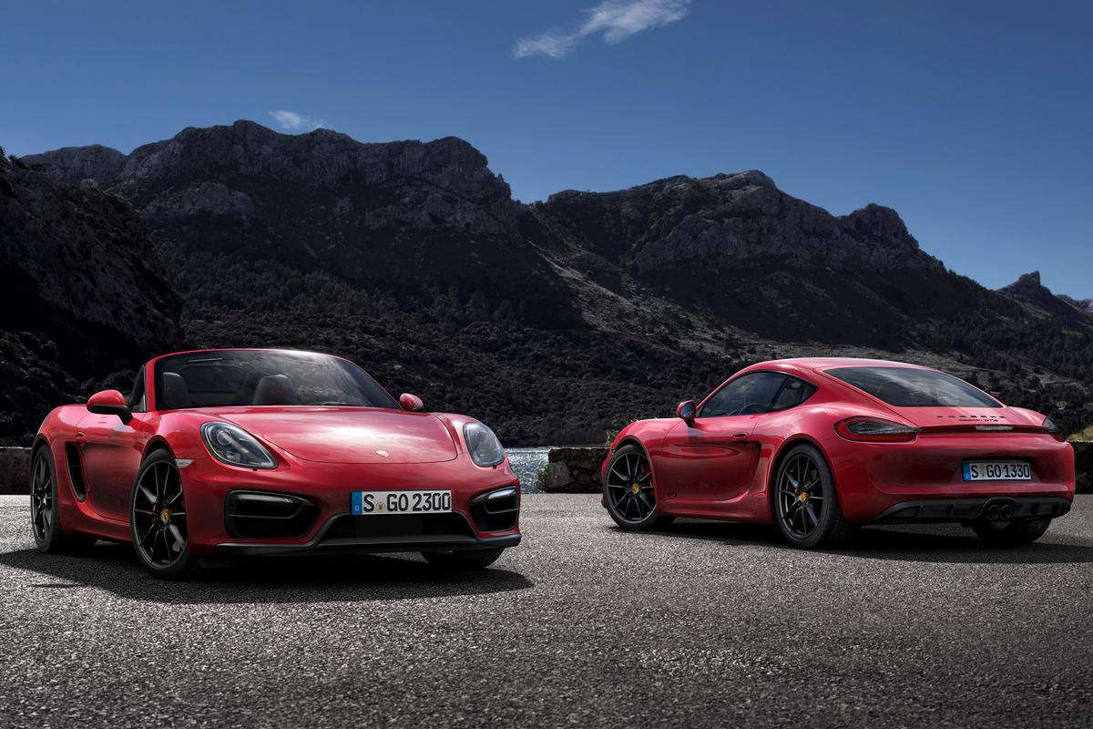 The Boxster GTS and Cayman GTS join stablemates the Cayenne and Panamera GTS models at the top of the Porsche range