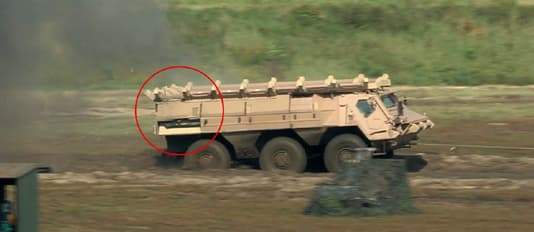 The ADS-equipped Fuchs/Fox 1A8 after the ADS has defeated an RPG7 attack (Photo: Rheinmetall AG)