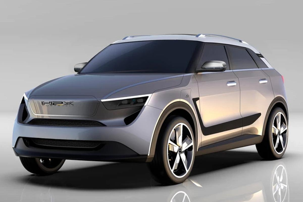 """The H2X """"Snowy"""" SUV claims 650 km of emissionsfree range thanks to its fuel cell hybrid powertrain"""
