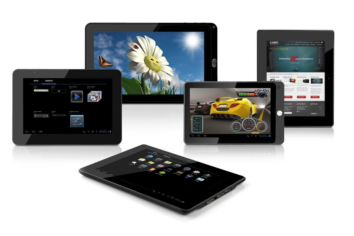 Coby Electronics has revealed that five new Android 4.0 tablets will launch at the 2012 Consumer Electronics Show in Las Vegas this coming January