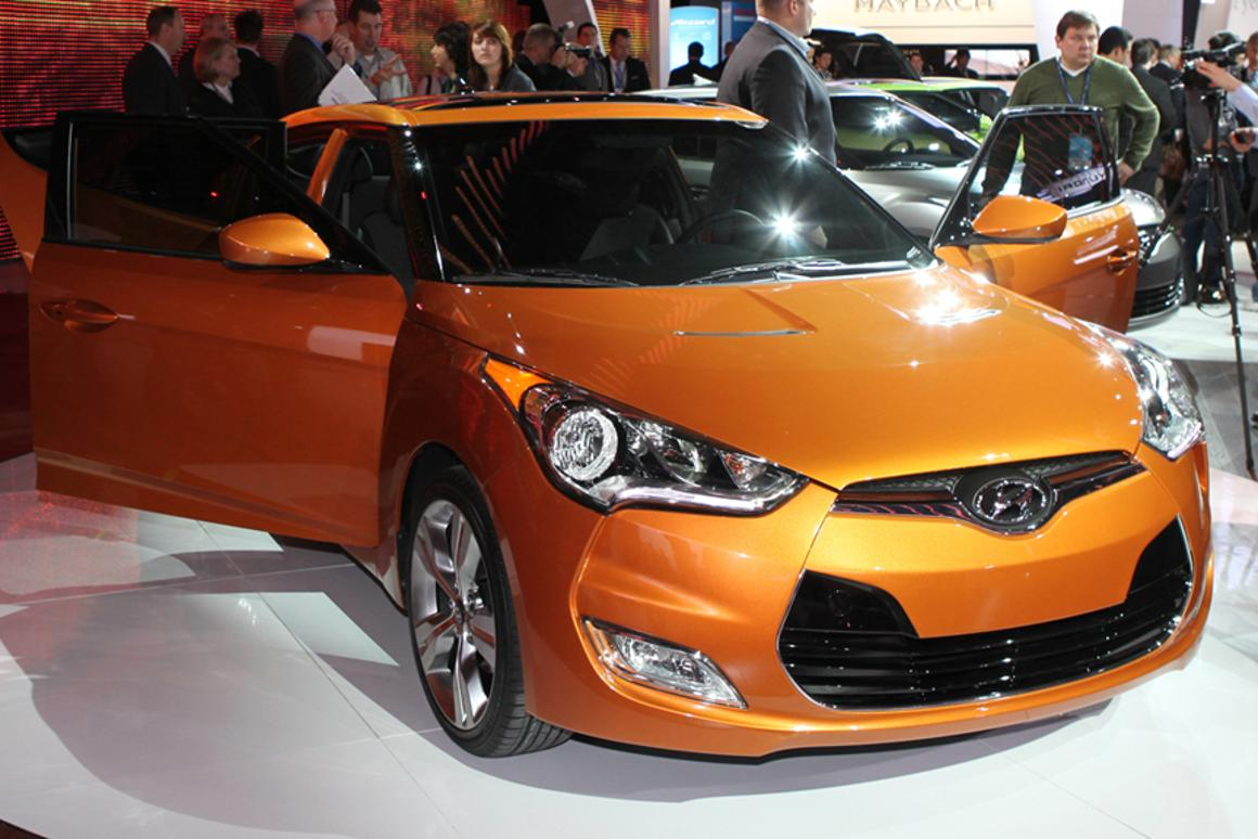 The Hyundai Veloster 3-door coupe