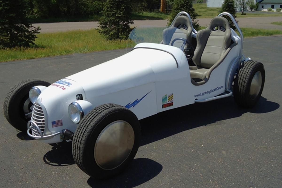 EnviroTech recently revealed its production-ready Lightning electric hot rod at a press launch in Wisconsin