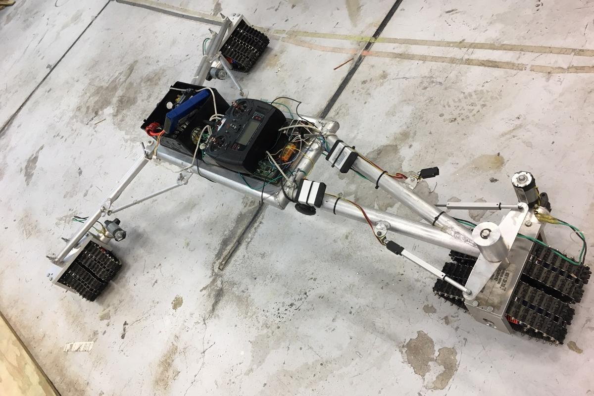 The current quarter-scale model of the Surf Rover