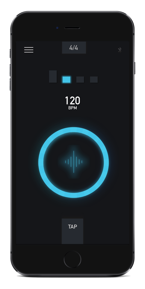 The Soundbrenner Pulse can be programmed with a smatphone app