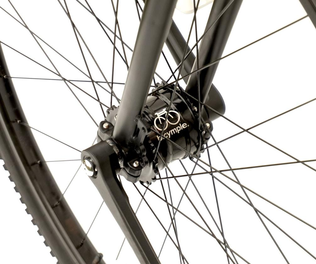 The Bicymple Nuvo's optional 2-speed front hub transmission
