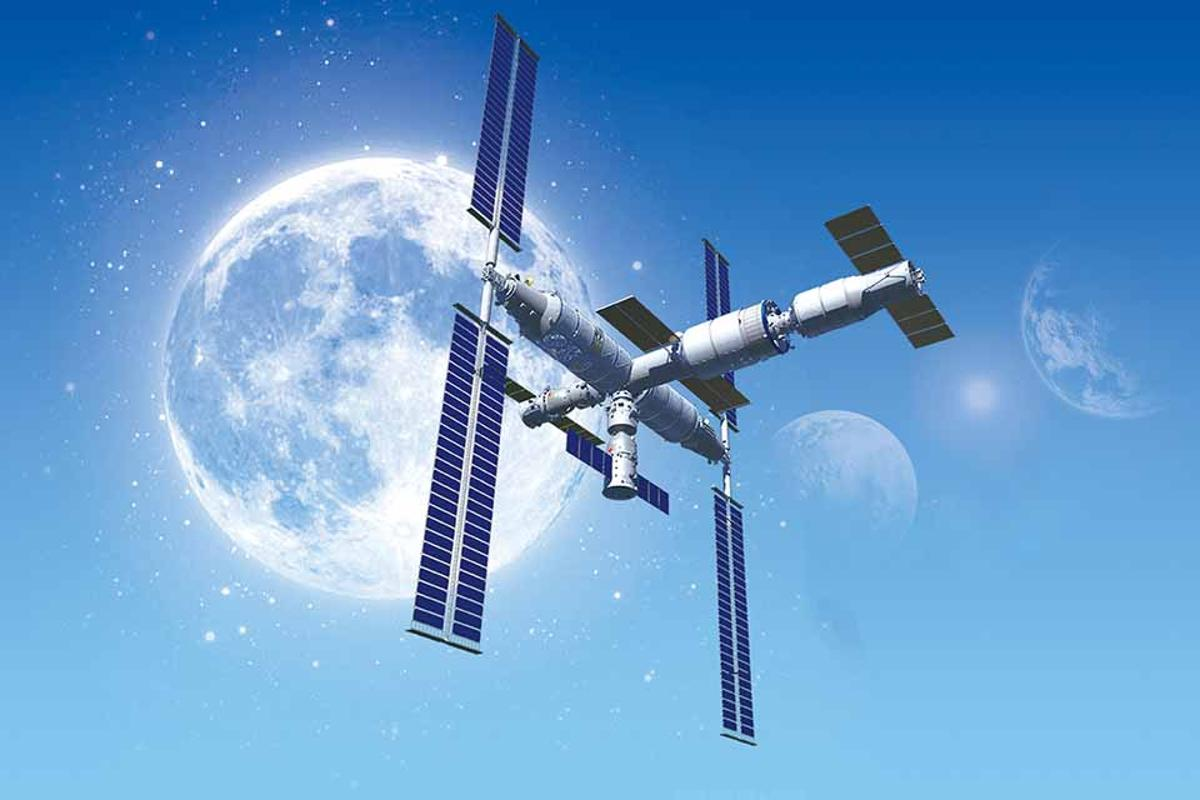 A render of China's Tiangong space station