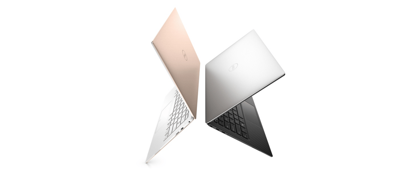 The Dell XPS 13 is available in silver or rose gold