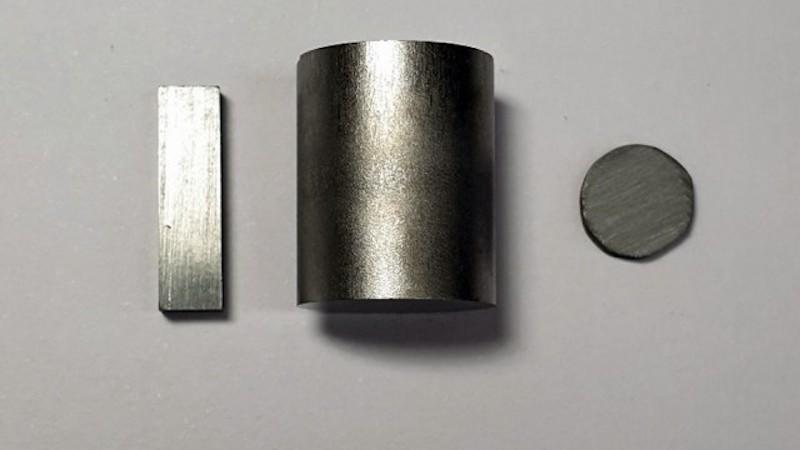 Samples of purified polycrystalline tin selenide, which new research has shown makes an excellent thermoelectric material