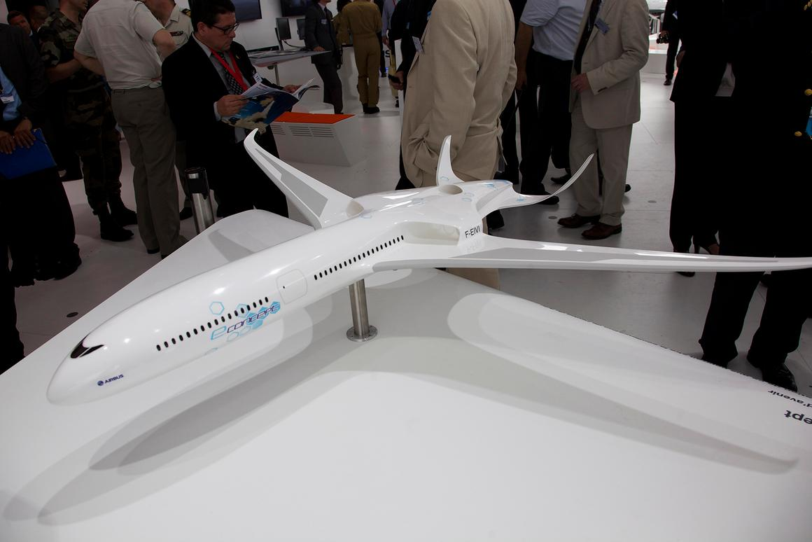 Airbus helped EADS to incorporate an E-Thrust-style propulsion system into an airplane design, the eConcept (Photo: Gizmag)