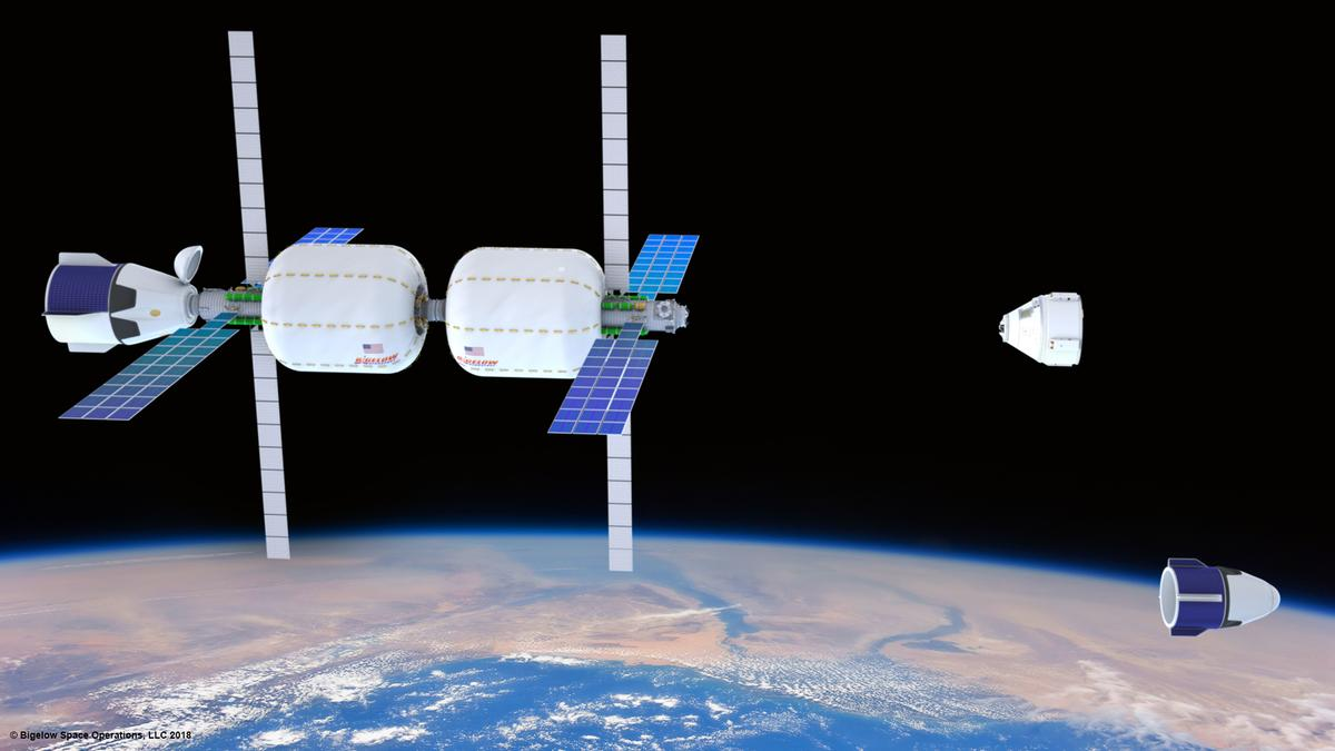 Artist's concept of the Bigelow Space Complex