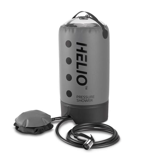 Thanks to its pressure system, the Helio does not require you to hang it from a given height