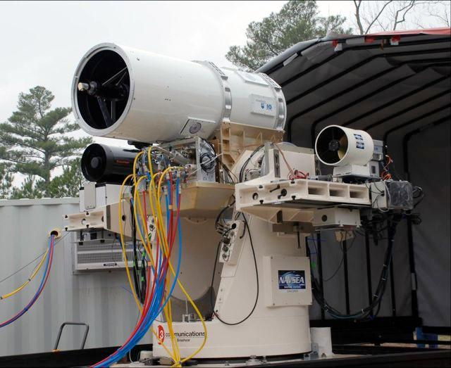 This US Navy Laser Weapon System shot down two UAVs on May 24th