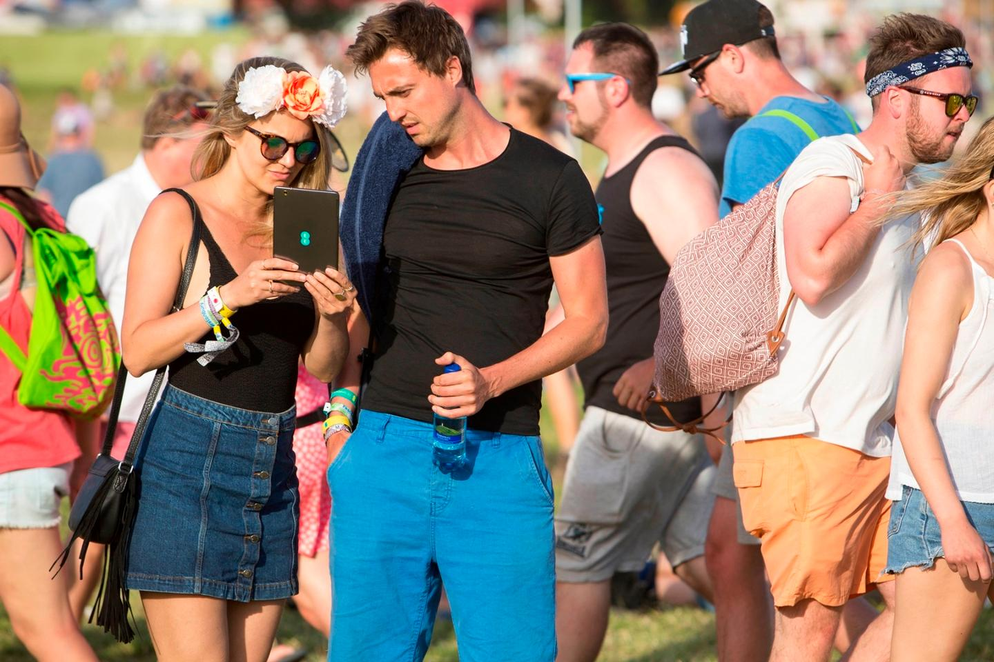 Glastonbury's communications partner EEhad expected 15 TB of data to be consumed
